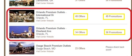 Orlando premium outlets october discount coupons